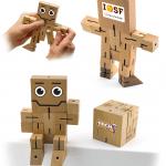 398200 Wood Brain Teaser Puzzle Robot Cube