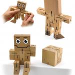 398200 Wood Brain Teaser Puzzle Robot Cube_NP
